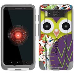 Black Friday Otterbox Commuter Series Owl Patch Purple and Flowers Hybrid Case for Motorola Droid Mini from TrekCovers