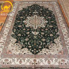 Hand knotted silk rug # Rug No.: P4137 # Quality: 150L (156kpsi) # Size:5x8ft (152x244cm) # Material: 100% Silk # wholesale Price: $640/piece # If you have any interests, please email to sales@bosicarpets.com    Hand-madecarpet#orienatlrug#oldrug#Kashmirrug#Chinacarpet#Iraniancarpet#boteh#HeratiGul# Isfahan#Tabriz#Qum#Nain#Kashan#Kerman#Bijar#Sarouk#Caucasian#antiquecarpet#bosicarpet