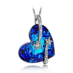LadyColour 'Venus' Swarovski Crystals Pendant Necklace,'I Love You To The Moon And Back' Fashion Jewelry >>> Click on the image for valentines gift ideas.