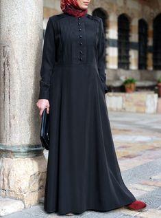 Double Pleated Abaya - Abayas - Women Islamic Fashion, Muslim Fashion, Modest Fashion, Fashion Dresses, Muslim Dress, Hijab Dress, Mode Abaya, Abaya Designs, Batik Dress