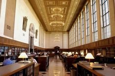 Butler Library, Columbia University, New York City.