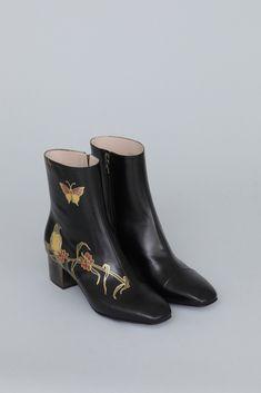 Dries Van Noten Gold Hand Painted Boot (Black)
