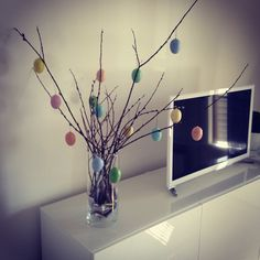 My home. Television and easter deco.