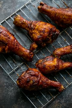 The most delicious glazed bbq baked chicken drumsticks ever!