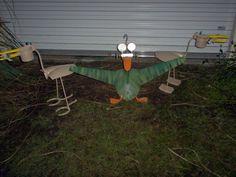 Metal Yard Art, Scrap Metal Art, Metal Birds, Birds 2, Potato Ricer, Recycle Art, Junk Art, Outdoor Power Equipment, Recycling
