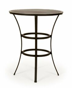 Caluco San Michele Round Bar Table 32 Inch by Caluco. $431.00. Charcoal Grey Color. Assembly required. Extruded & Die Cast Aluminum. Frame Size: 32 in. Dia. x 40 in. H This round bar table requires assembly and is crafted from aluminum tubing with powder coated paint.. Sleek lines and refined curves give San Michele a striking contemporary European flair. Finely crafted, powder coated rustproof extruded aluminum frames are exceptionally durable, and deep plush cushi...