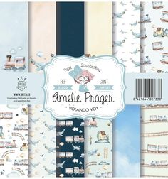 SET DE PAPELES VOLANDO VOY AMELIE Amelie, Diy Lace Ribbon Flowers, Echo Park, Ephemera, Paper Crafts, Free, Cool Stuff, Digital, Pattern