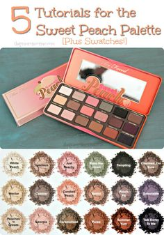 Sweet Peach Palette Swatches