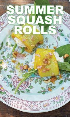 Summer Squash Rolls | Martha Stewart Living - This recipe, courtesy of Lost Kitchen chef and owner Erin French, works best with narrow, long, bright-yellow zucchini.