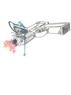 'Life is Strange Gun Watercolored' Sticker by scolecite Life Is Strange 3, Life Is Strange Fanart, Life Is Strange Photos, Strange Art, Life Is Strange Wallpaper, Weird Art, Game Art, Otaku, Art Drawings
