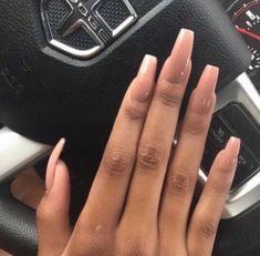 nude long acrylic nails pintrest: @0liviaLaurenn