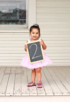 2nd birthday - this is a cute photo idea for the birthday party invitation!