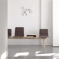 In the Leibar&Seigneurin architecture studio, the Laia seating beam creates a pleasant working environment. Design: Jean Louis Iratzoki