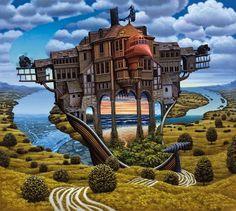 O Cortador de Paisagem - Jacek Yerka e seu surrealismo fantástico ~ Polonês