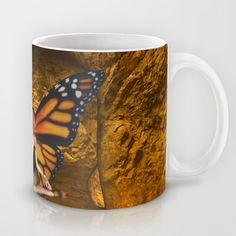 Cave Dweller Butterfly Fairy Mug by apgme - $15.00