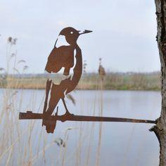 Metalbird fugl i cortenstål - fløjtefugl