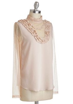 Fashionably Au Lait Top, #ModCloth