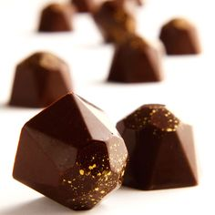 Champagne truffles dusted with gold powder from Dean & Deluca!
