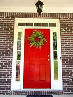 Front doors front door colors and doors on pinterest - Front door colors for red brick house ...