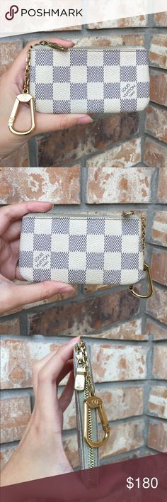 Louis Vuitton cles key holder card case Authentic. Date code CT1233. Canvas in good condition, no crack/rip/hole. There is little pink stain around the zipper, but not noticeable. Louis Vuitton Bags Wallets