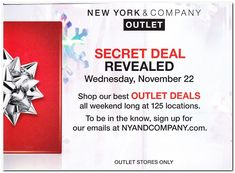 New York and Company Black Friday 2018 Ads and Deals Browse the New York and Company Black Friday 2018 ad scan and the complete product by product sales listing. New York And Company, Black Friday, Coupons, Ads, Contemporary, Coupon