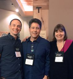 Dugoni at Left Coast Crime Robert Dugoni (center), author of 'My Sister's Grave' (Thomas & Mercer), with his editor, Thomas & Mercer editorial director Alan Turkus, and agent, Meg Ruley of the Jane Rotrosen Agency, at the 2015 Left Coast Crime mystery writers' convention in Portland, Oreg. The event was held from March 12-15.