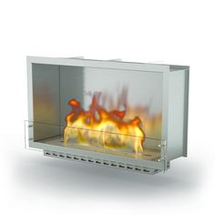 "GlammBox 1150 by Glammfire | With simple design and compact dimensions, the ""GlammBox"" models are pure expression of versatility. Details such as its lines, resistance of structure and quality of materials stress the personality of these models, which offer endless possibilities in terms of installation and use. The strong connection between details and proportional balance, makes them great pieces for heating and decoration of professional projects."