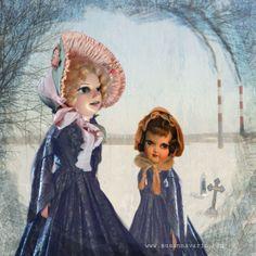 Winter Dolls  digital assemblage 2014 Susanna Varis