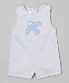 Blue Airplane Romper - Infant