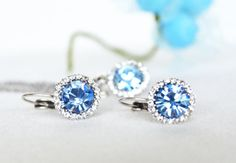 something blue bridesmaids jewelry set art deco clear by sestras