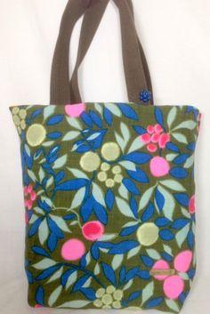 Shopping Bag  Market Bag Tote Bag OOAK Cotton by ReinventedThreads