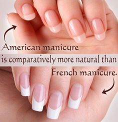 american verses french nails - Google Search