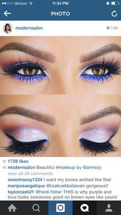 Gorgeous purple eye shadow