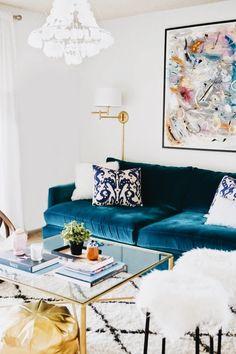 Velvet couch!