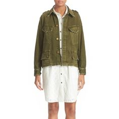 Women's Current/elliott 'Slanted Pocket' Army Jacket