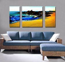 Canvas print wall art panorama modern photo poster decor beach abstract 1887 sea