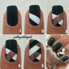 Nail art - criss cross simple