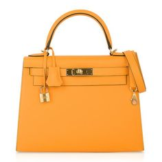 View this item and discover similar for sale at - Guaranteed authentic Hermes Kelly Sellier 28 HSS bag features rare coveted Jaune D'Or. This iconic yellow special order Hermes bag is timeless and chic. Fashion Handbags, Fashion Bags, Hermes Kelly 25, Hermes Constance Bag, Hermes Box, Leather Working, Bag Sale, Gold Hardware, Purses And Bags