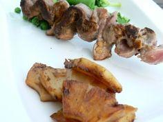 Brochettes d'aiguillettes de canard sucrées-salées
