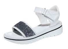 PerfectAZ Women Fashion Casual Open Toe Ankle Strap Velcro Platform Holidays Beach Sandals *** Check this awesome product by going to the link at the image.