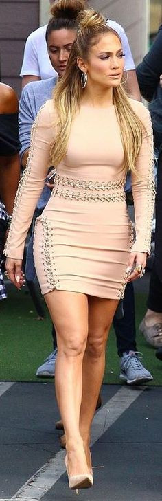 Jennifer Lopez: Dress – House of CB  shoes – Casadei  Jewelry – Lana Jewelry