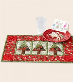 Quilted Place Mats -- good for Christmas giving. Vary the colors and patterns for use year-round.