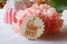Baby Shower Favor Tags/ Wooden Baby Shower Tags/ by RusticKraft