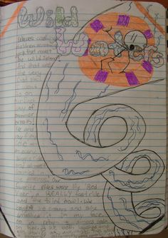 I found an archived folder of Mr. Stick notebook pages from my students I had before there was Pinterest!  Here's 7th grader Andrea drew her picture first so that her story about being at our local water park could wrap around it.  Here's a sixth grader's notebook page that did something similar: http://www.pinterest.com/pin/450852612668292539/  Check out my webpage for writer's notebook ideas that excite students: http://corbettharrison.com/index.html