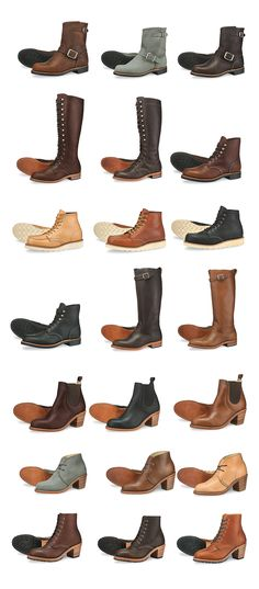 Red Wing Boots Designed and Made for Women