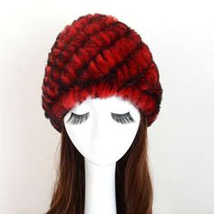NEW Real Rabbit Fur Hat Ladies Winter Warm 100% Fur Hat Hand Knitted Cap  Gifts c71b5af1c0e0