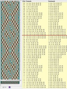 30 tarjetas, 3 colores, repite cada 32 movimientos // sed_510 diseñado en GTT༺❁