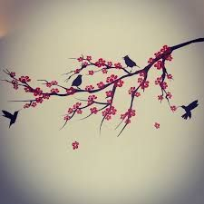 Image result for black and red bird and plant tattoo
