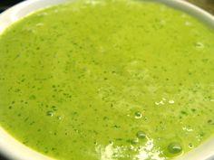 Aji Verde sauce - salsa - Peruvian sauce/ Salsa peruana. Also recipe for Peruvian Roasted chicken and avocado salad. Pollo a la brasa y ensalada de palta - Peruvian food. Recipe in English