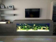 Stunning Indoor Aquarium Design Ideas for Inspiring Home Decorations - Page 3 of 23 Decor, Fish Tank Design, Inspired Homes, House Design, Home Decor, House Interior, Home Interior Design, Interior Design, Living Room Designs
